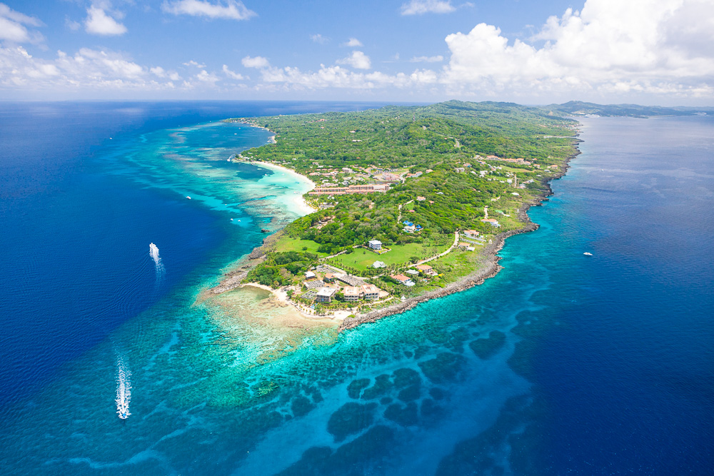 West Bay Roatan island point