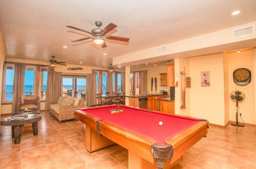 Pool table and an ocean view!