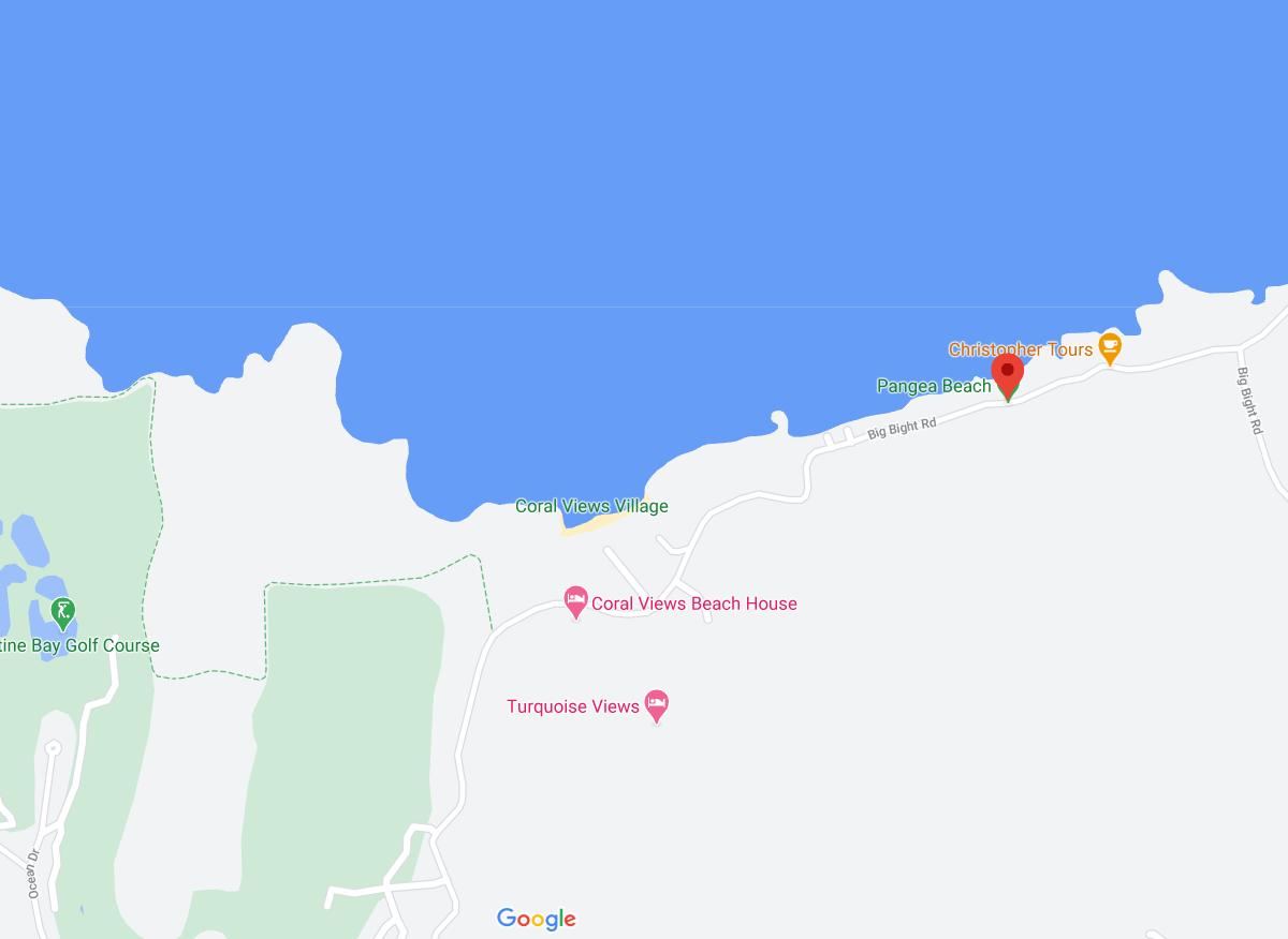 Big Bight Roatan area map