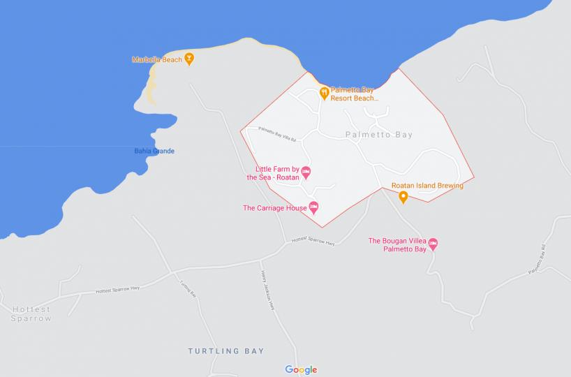 Map of Palmetto Bay on Roatan