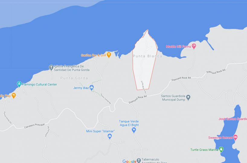 Map of the Punta Blanca community in Roatan